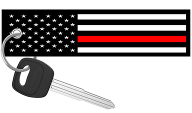 USA Flag Thin Red Line - Motorcycle Keychain riderz