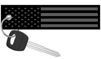 USA Flag Black and Grey - Motorcycle Keychain riderz