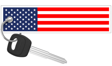 United States of America Flag - Motorcycle Keychain riderz