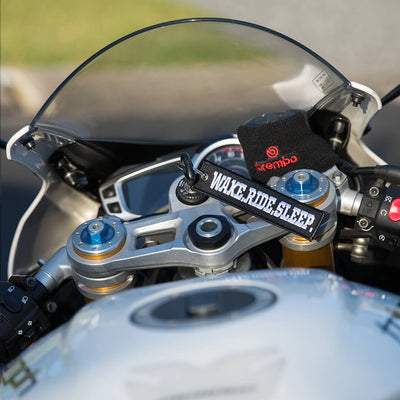 Wake.Ride.Sleep. - Motorcycle Keychain