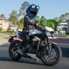 Motorcycle Helmet Cover - Blue, Purple and Black