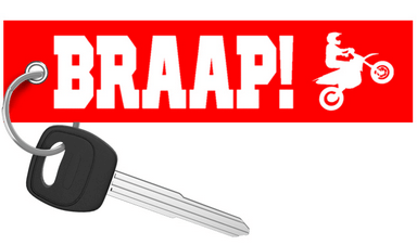 BRAAP! - Red Motorcycle Keychain