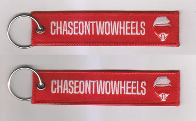 Chase On Two Wheels - Red Motorcycle Keychain