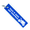 Drop a Gear and Disappear - Blue Motorcycle Keychain