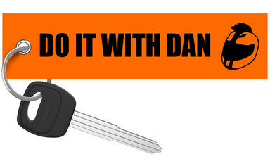 DO IT WITH DAN - Orange Motorcycle Keychain