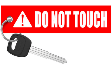 Do Not Touch - Motorcycle Keychain