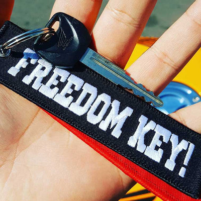 FREEDOM KEY! - Black Motorcycle Keychain