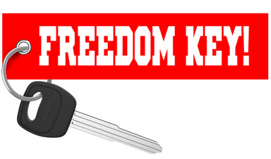 FREEDOM KEY! - Red Motorcycle Keychain