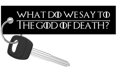Motorcycle Keychain - God Of Death - Moto Key Tag riderz