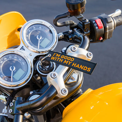 Good with my hands - Motorcycle Keychain