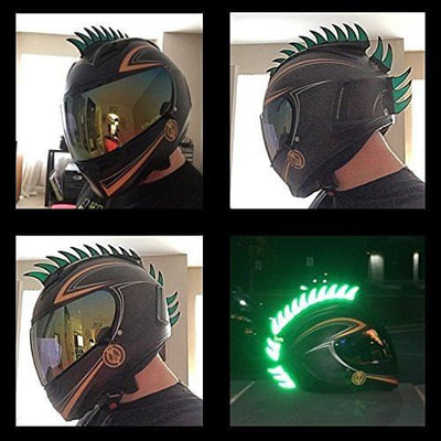 Helmet Mohawk Reflective Decals Green
