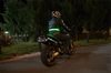 High Visibility LED Motorcycle Belt Green