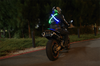High Visibility LED Motorcycle Belt Green Blue