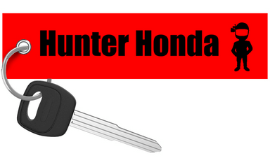 Motorcycle Keychain - Hunter Honda - Moto Key Tag riderz