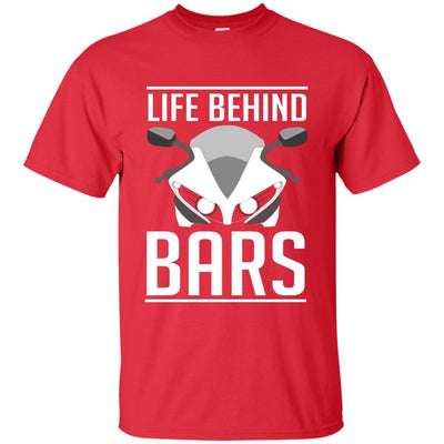 Life Behind Bars T-Shirt Red Small Medium Large X-Large XX-Large XXX-Large 4XL 5XL 6XL