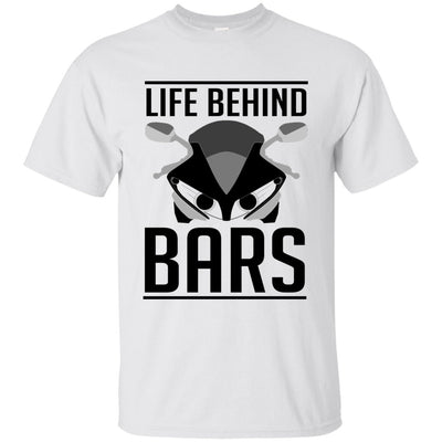 Life Behind Bars T-Shirt White Small Medium Large X-Large XX-Large XXX-Large 4XL 5XL 6XL