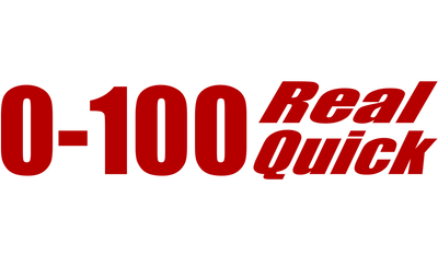Motorcycle Decal - 0-100 Real Quick - Red