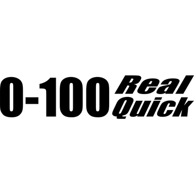 Motorcycle Decal - 0-100 Real Quick - Black