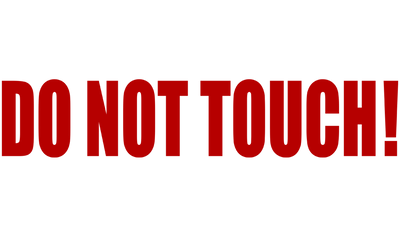 Motorcycle Decal - Do Not Touch! - Red