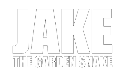 Motorcycle Decal - Jake The Garden Snake White