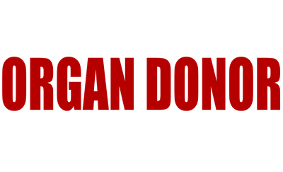 Motorcycle Decal - Organ Donor Red