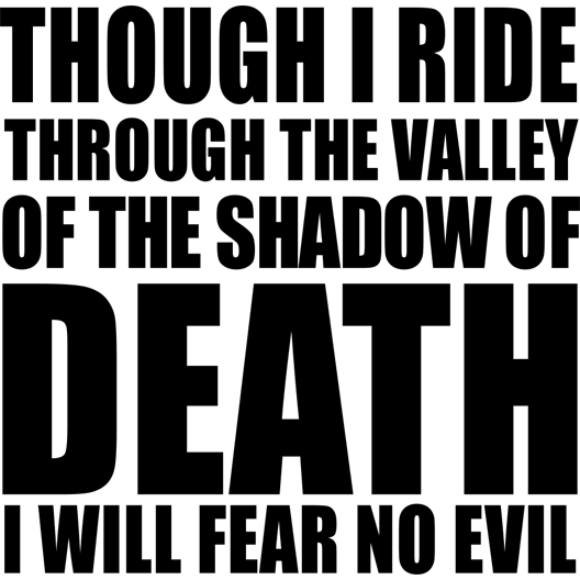 Motorcycle Decal - Valley Of Death Black