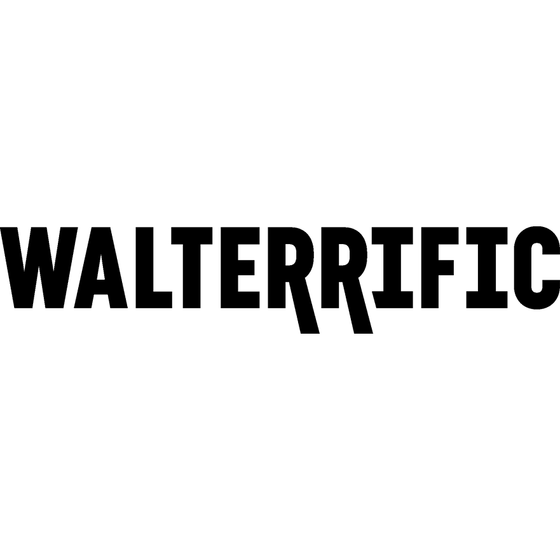 Motorcycle Decal - Walterrific (2 pack) Black