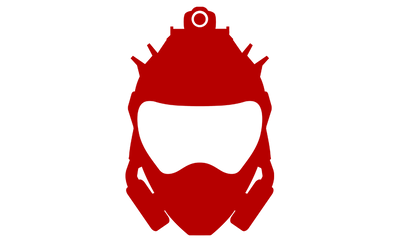 Motorcycle Decal - Walterrific Helmet Red