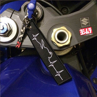 Motorcycle Heartbeat - Motorcycle Keychain