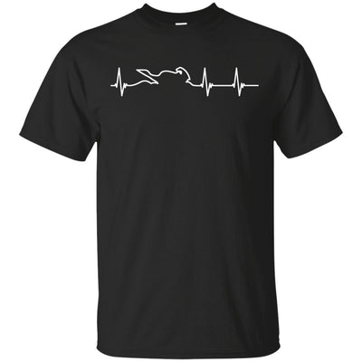 Motorcycle Heartbeat T-Shirt Black Small Medium Large X-Large XX-Large XXX-Large 4XL 5XL 6XL