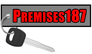Motorcycle Keychain - Premises187 - Moto Key Tag riderz