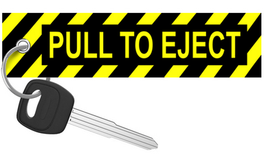 Motorcycle Keychain - Pull To Eject - Moto Key Tag