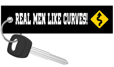 Motorcycle Keychain - Real Men Like Curves!