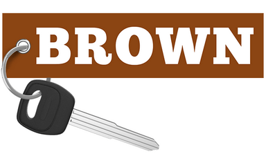 RegularCarReviews - BROWN Keychain