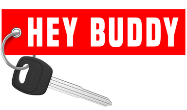 Street Speed 717 -  Hey Buddy Keychain