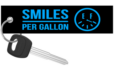 ThatDudeInBlue - Smiles Per Gallon Keychain