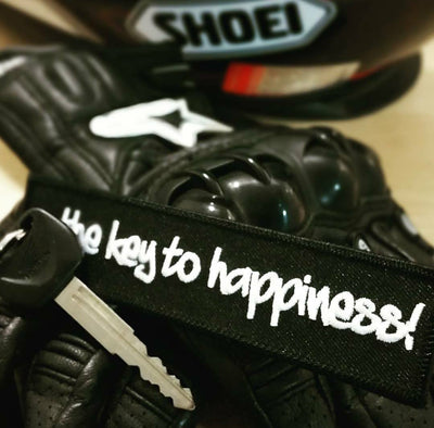 Motorcycle Keychain - The key to happiness!