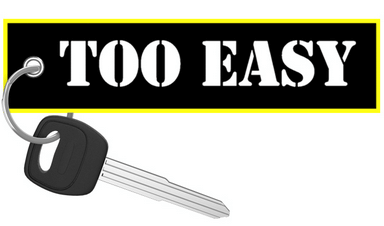 Too Easy - Motorcycle Keychain