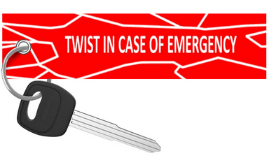 Motorcycle Keychain - Twist In Emergency - Moto Key Tag