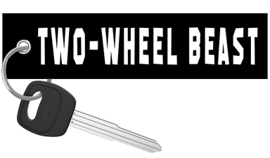 Two-Wheel Beast motorcycle keychain riderz