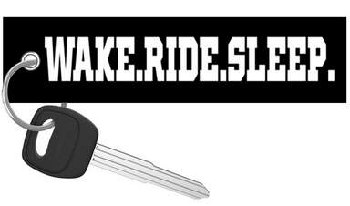 Wake.Ride.Sleep. - Motorcycle Keychain riderz