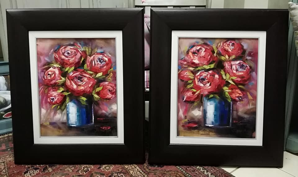 Red Roses (set of 2) - Jeanne Marais