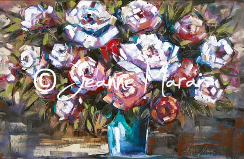 Purple & white roses - Jeanne Marais