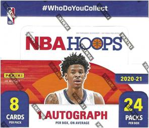 PANINI 2020-21 NBA Hoops Basketball Retail Box