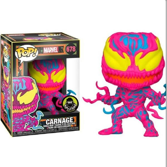 Carnage Black Light US Exclusive Pop! Vinyl