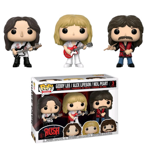 Rush - Geddy Lee, Alex Lifeson & Neil Peart Pop! Vinyl 3-pack