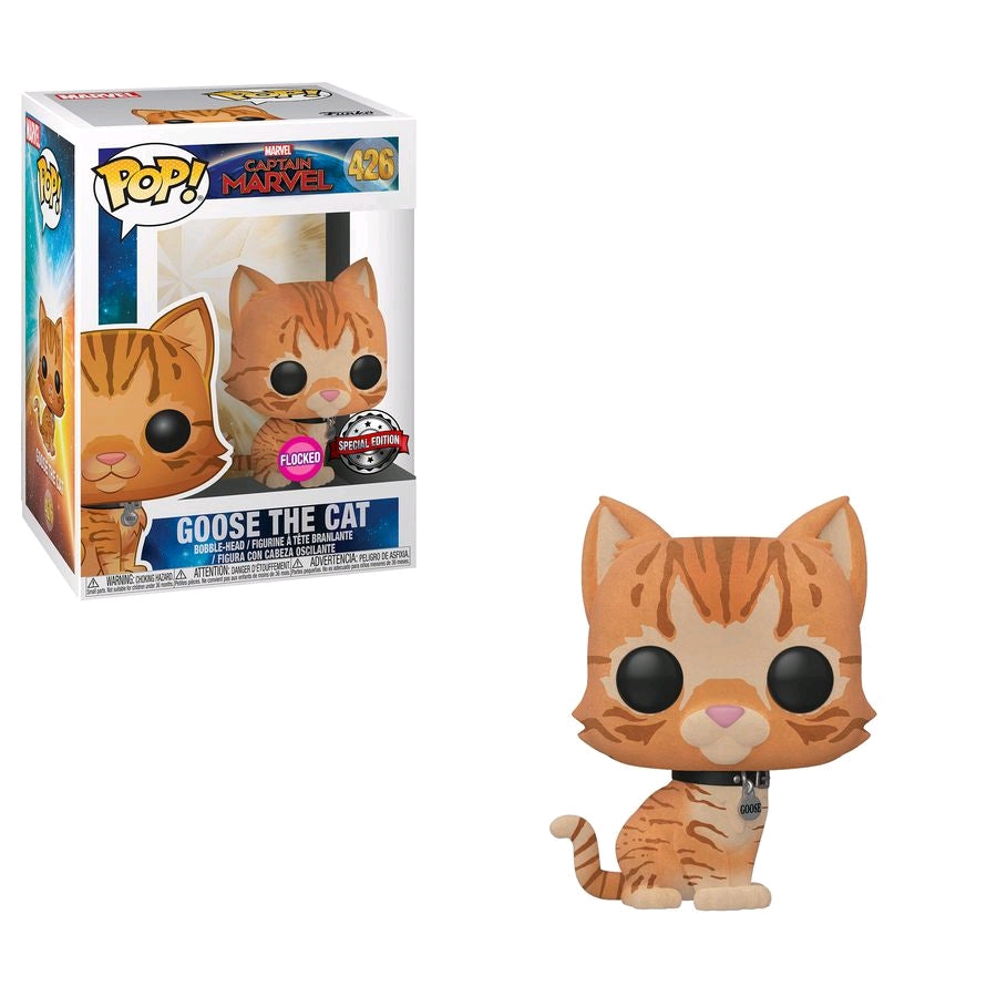 Captain Marvel - Goose the Cat Flocked US Exclusive Pop! Vinyl