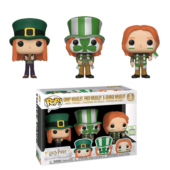 Harry Potter - Ginny, Fred & George Weasley World Cup ECCC 2019 US Exclusive Pop! Vinyl 3pk