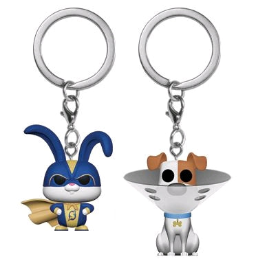 Secret Life of Pets 2 - Max & Snowball US Exclusive Pocket Pop! Vinyl Keychain 2-pack