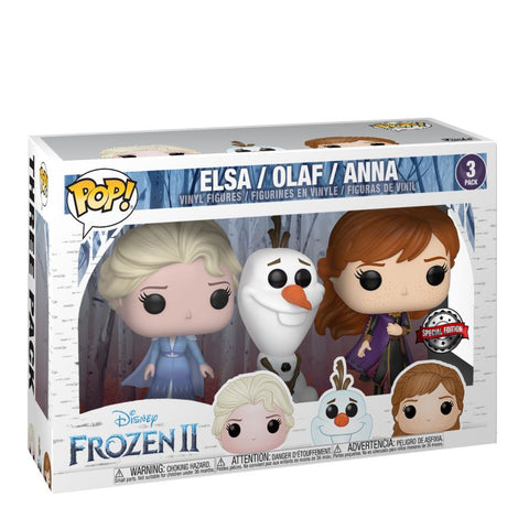 *Pre-order* Frozen 2 - Elsa, Olaf & Anna US Exclusive Pop! Vinyl 3-pack (ETA November)